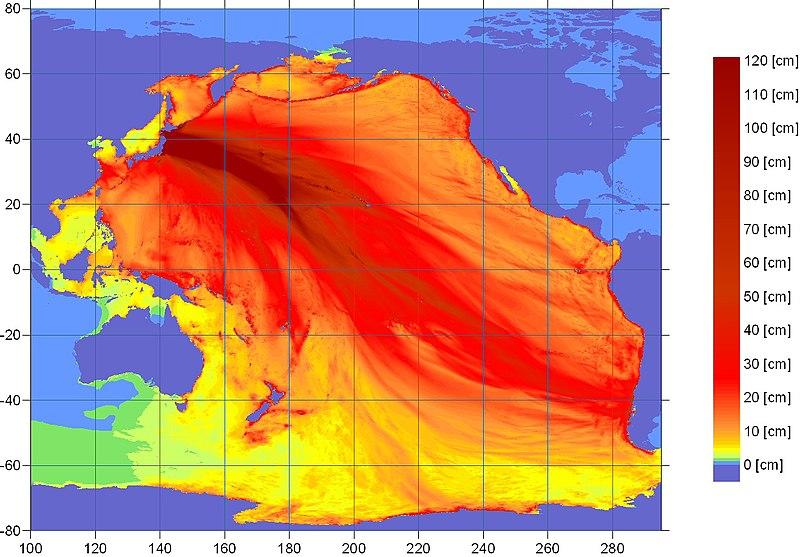 เกิดสึนามิที่ญี่ปุ่นสูง 7 เมตร เสียหายเป็นบริเวณกว้าง รัสเซีย อินโด สหรัฐเตือนอาจกระทบถึงฮาวาย 800px-2011Sendai-NOAA-Energylhvpd9-05