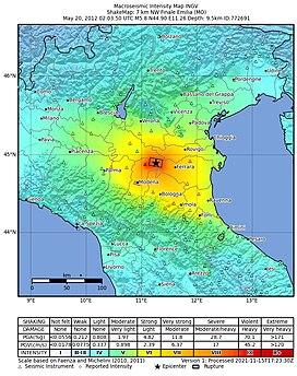 2012 Northern Italy earthquakes earthquake