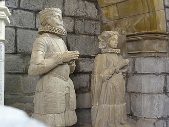 Sancho VII of Navarre - Statues of Sancho and his wife (Capilla de San Agustín, Roncesvalles)