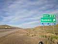 2014-06-10 19 00 37 Sign for Exit 373 along eastbound Interstate 80 and southbound Alternate U.S. Route 93 at Pequop Summit, Nevada.JPG