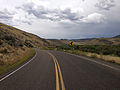 2014-08-19 14 56 52 View south along Nevada State Route 225 (Mountain City Highway) about 94.7 miles north of Nevada State Route 535 (Idaho Street) near Owyhee, Nevada.JPG