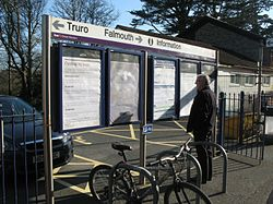 2016 at Perranwell station - information boards.JPG