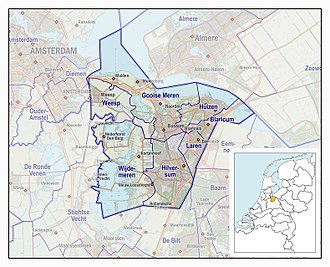 Gooi - The Gooi en Vechtstreek region as it is currently defined by the Dutch state, 2017