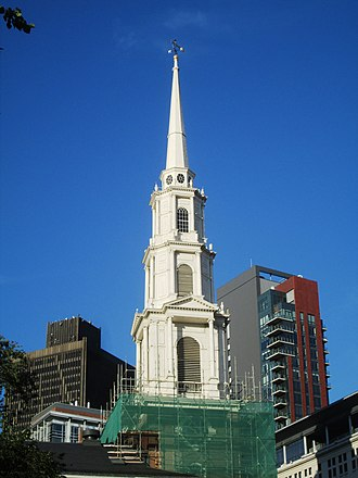 Park Street Church - The Park Street steeple in 2017