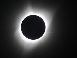 Sun - During a total solar eclipse, the solar corona can be seen with the naked eye, during the brief period of totality.