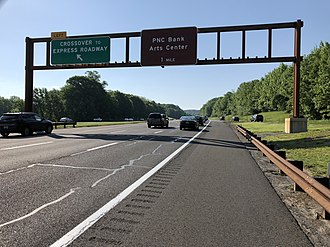 Holmdel Township, New Jersey - The Garden State Parkway in Holmdel