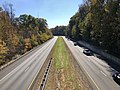 2018-10-30 11 52 00 View south along Virginia State Route 286 (Fairfax County Parkway) from the overpass for Virginia State Route 6500 (Clara Barton Drive) in Fairfax Station, Fairfax County, Virginia.jpg