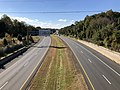 2018-10-30 12 18 39 View north along Virginia State Route 286 (Fairfax County Parkway) from the overpass for Virginia State Route 640 (Sydenstricker Road) on the border of Burke and Newington Forest in Fairfax County, Virginia.jpg