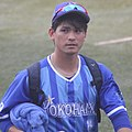 20180527 Kazuki Kamizato, outfielder of the Yokohama DeNA BayStars, at Meiji Jingu Stadium.jpg