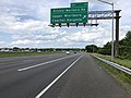 2019-05-27 14 42 47 View north along the outer loop of the Capital Beltway (Interstate 95 and Interstate 495) at Exit 13 (Ritchie-Marlboro Road, Capitol Heights, Upper Marlboro) along the edge of Forestville and Westphalia in Maryland.jpg
