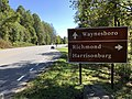 2019-10-11 13 20 25 View south along Virginia State Route 48 (Skyline Drive) at the Swift Run Gap interchange with U.S. Route 33 (Spotswood Trail) within Shenandoah National Park in Rockingham County, Virginia.jpg