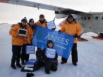 Demographics of Antarctica - Children, adolescents and teachers of the school of Esperanza Base.