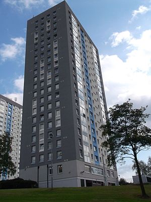 Drumchapel -  Linkwood Crescent tower blocks