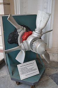 3-Blade Coaxial Contra-rotating Propeller - Birla Industrial & Technological Museum - Kolkata 2012-01-11 7922.JPG