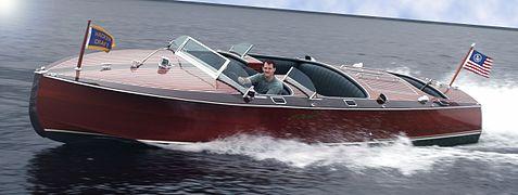 bateau a moteur runabout