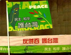 Anti-Secession Law - A rally flag used in the 3-26 protests.