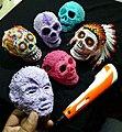 3D Pen Art Sugar Skulls.jpg