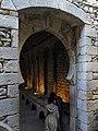 408 Banys Àrabs de Girona, arc d'accés a l'apodyterium des de l'atri.JPG
