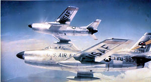 41st Flying Training Squadron - 41st FIS F-86D 52-9989 over Japan, 1955