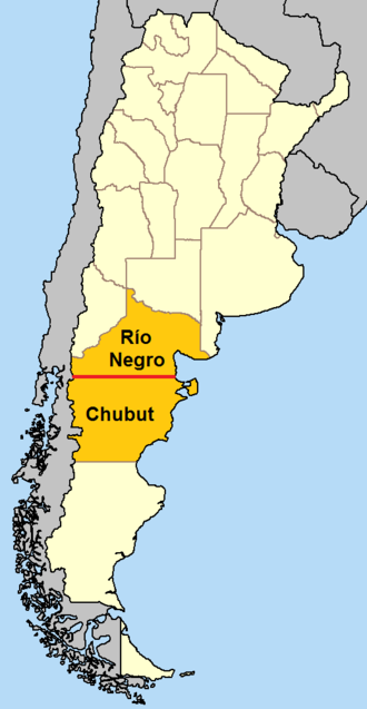 42nd parallel south - In Argentina, the 42nd parallel south defines the border between Río Negro Province and Chubut Province.