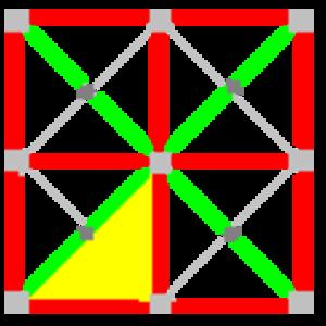 Tetrakis square tiling - Image: 442 symmetry a 00