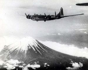 499th Bomb Group B-29 over Mount Fuji 1945.jpg