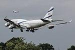 4X-ELC Boeing 747-400 El Al (35422861361).jpg