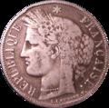 5 francs Cérès 1851 Avers.png