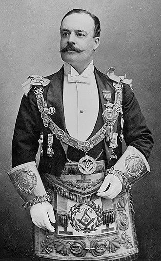 Francis Greville, 5th Earl of Warwick - 5th Earl of Warwick wearing masonic regalia in 1889