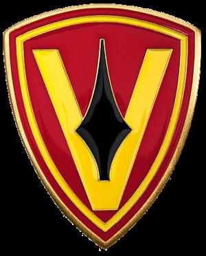 Jack Lummus - 5th Marine Division patch