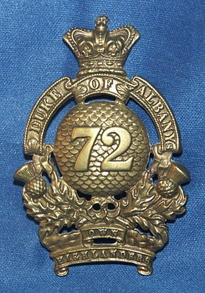 72nd Regiment, Duke of Albany's Own Highlanders - Regimental cap badge