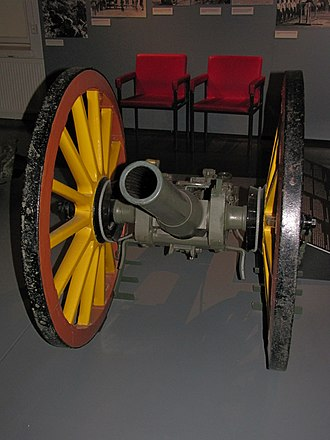 Type 31 75 mm mountain gun - Type 31 75 mm quick-firing at the Hämeenlinna military museum