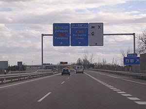 Autovía A-23 - Image: A 23 Autovia Mudejar en Huesca