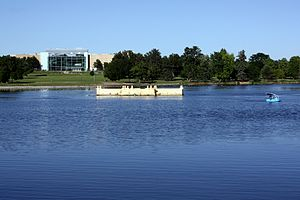 City Park, Denver - Ferril Lake and the Museum of Nature and Science