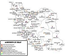 Irán-Közlekedés-AIRPORTS IN IRAN