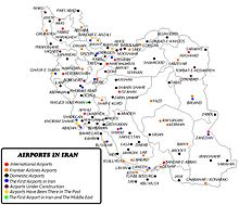 List of airports in Iran on adu