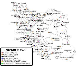 Iran Civil Aviation Organization - AIRPORTS IN IRAN