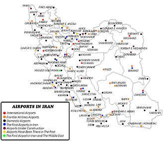 Transport in Iran - Airports in Iran.