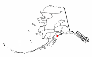 Halibut Cove, Alaska - Image: AK Map doton Halibut Cove