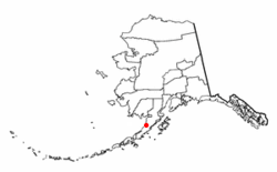 Location of Ugashik, Alaska