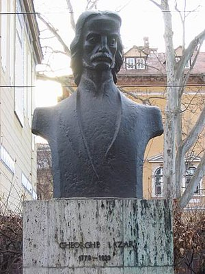 Gheorghe Lazăr - Gheorghe Lazăr's bust in front of the ASTRA Palace in Sibiu