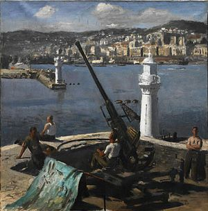1943 in art - A Bofors Gun, Algiers, Henry Carr