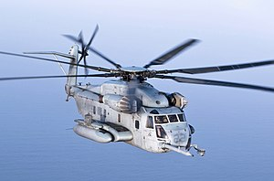 Sikorsky CH-53E Super Stallion - A CH-53E Super Stallion with the 22nd Marine Expeditionary Unit