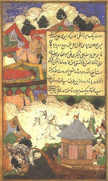 File:A Drunken Babur Returns to Camp at Night.jpg