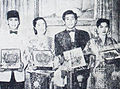 A Hady, Fifi Young, AN Alcaff, Dhalia at First IFF, Dunia Film 1 May 1955 p4.jpg
