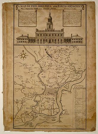 History of Philadelphia - An 18th century map of Philadelphia