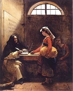 A Peasant Girl buying an Indulgence