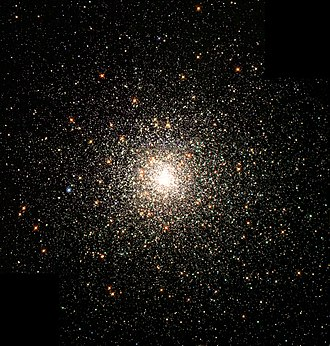 Globular cluster - The Messier 80 globular cluster in the constellation Scorpius is located about 30,000 light-years from the Sun and contains hundreds of thousands of stars.