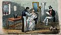 A barber shaving a man; another man sits in the background a Wellcome V0019668.jpg