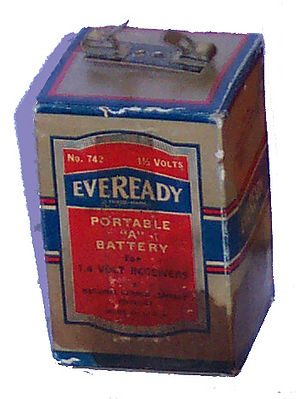 Battery (vacuum tube) - Image: A battery (Eveready 742)